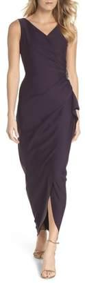 Alex Evenings Embellished Side Drape Column Gown