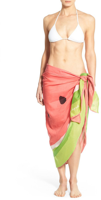 Kate SpadeKate Spade New York &watermelon& Cover-Up Scarf