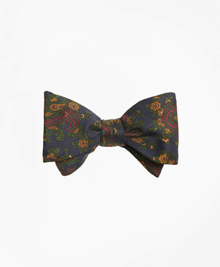 Brooks Brothers Ancient Madder Paisley Print Bow Tie