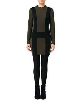 Nicole Miller Women's Ponte Zip up Dress