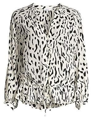 Rails Women's Marti Leopard Print Blouse