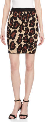 Romeo & Juliet Couture Romeo + Juliet Couture Leopard Print Mini Skirt