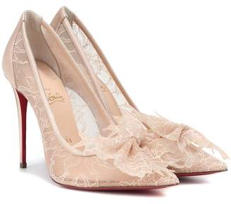 Christian Louboutin Delicatissima 100 lace pumps