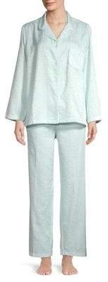 Miss Elaine Floral Two-Piece Pajama Set