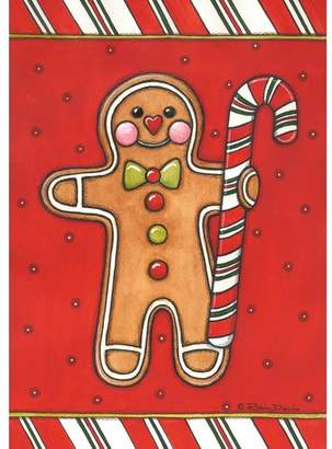 Toland Home Garden Gingerbread Man Garden flag