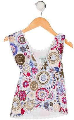 Papo d'Anjo Girls' Sleeveless Printed Top