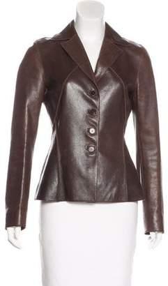 Alberta Ferretti Fitted Leather Jacket
