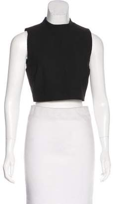 Elizabeth and James Mock Neck Cropped Top