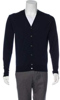 John Smedley Wool Button-Up Cardigan