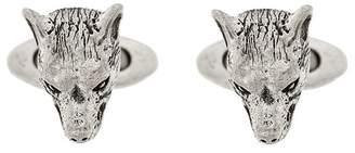Gucci Anger Forest wolf head cufflinks
