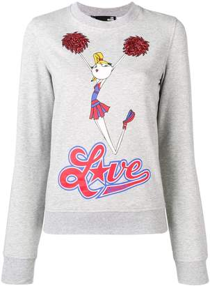 Love Moschino cheerleader print sweatshirt