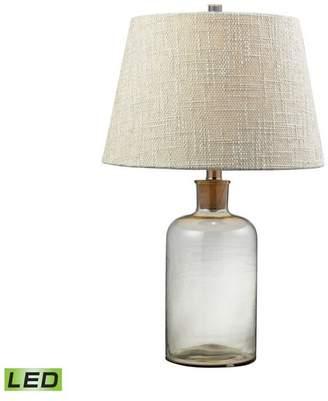 clear Dimond Lighting 26 Glass Bottle LED Table Lamp
