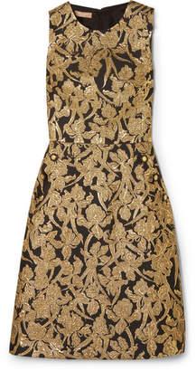 Michael Kors Metallic Jacquard Dress - Black