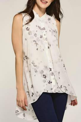 Paige Charlie Sheer Floral Tank