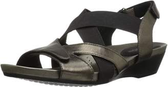 Aravon Women's Standon X Strap Heeled Sandal 11 B US