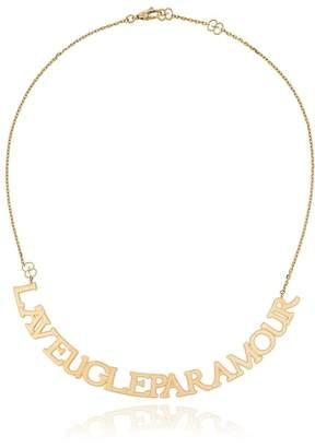 Gucci L'Aveugle Par Amour necklace