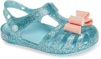Crocs TM) Isabella Bow Glitter Fisherman Sandal