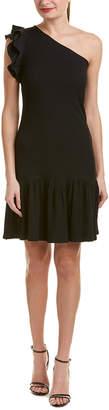 Rebecca Taylor One-Shoulder Shift Dress