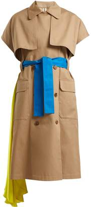 MSGM Short-sleeved cotton trench coat