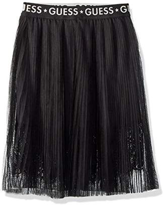 GUESS Girl's J83d11wabv0 Skirt, (Jet Black A996 Jblk), (Size: 8)