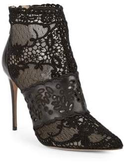 Valentino Lace Point Toe Booties