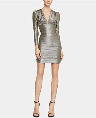 BCBGMAXAZRIA (ビーシービージーマックスアズリア) - Bcbgmaxazria Metallic Empire-Waist Sheath Dress