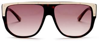 L.A.M.B. Women's Full Rim Rectangle Sunglasses $189 thestylecure.com