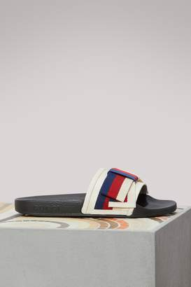 Gucci Sylvie satin mules with bow