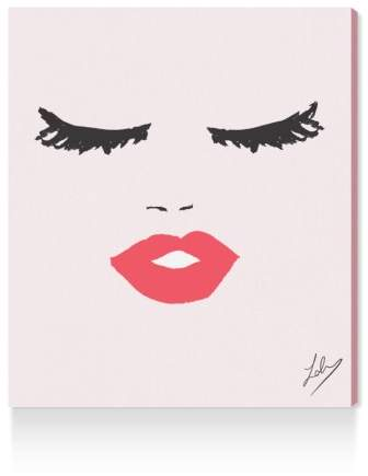 Fashionista Face Canvas Wall Art