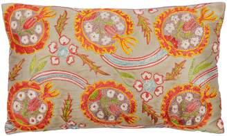 HERITAGE Geneve - Pomegranate Purple Silk Suzani Embroidered Cushion