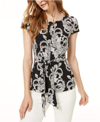 INC International Concepts I.n.c. Keyhole Knot-Front Top