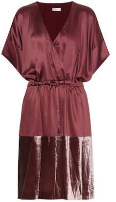 Brunello Cucinelli Satin and velvet dress