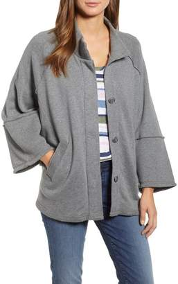 Caslon Calson(R) French Terry Swing Jacket (Regular & Petite)
