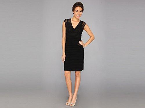 Adrianna Papell Women's Sleeveless V-Neck Shutter Dress