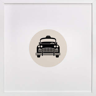 Retro Taxi Art Print