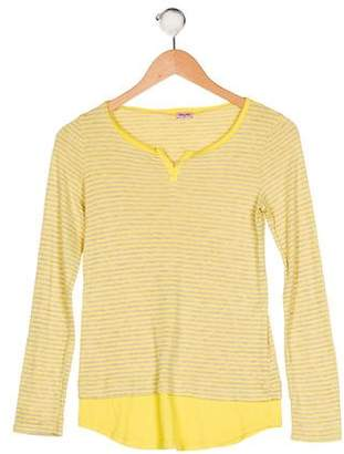 Splendid Girls' Striped Long Sleeve Top