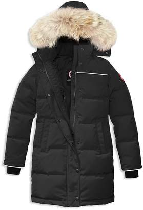 Canada Goose Girls' Juniper Fur-Trimmed Hooded Parka