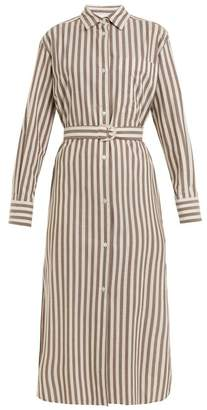 Max Mara Beachwear - Folgore Shirtdress - Womens - Grey Stripe