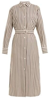 Max Mara Beachwear - Folgore Shirtdress - Womens - Grey Stripe