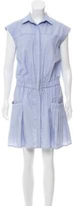 Thakoon Pinstripe Button- Up Dress