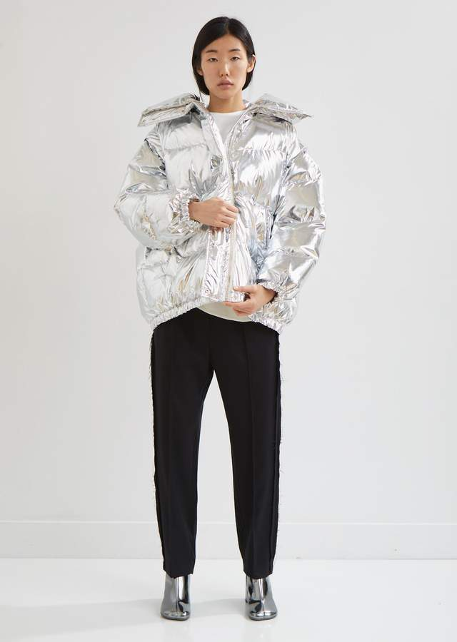 Silver Puffer Jacket