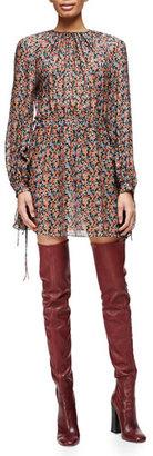 Derek Lam Pleated Floral-Print Tie-Detailed Dress $1,390 thestylecure.com