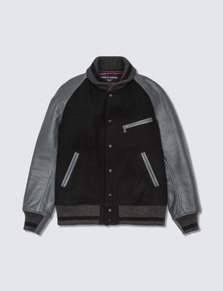 Comme des Garcons Homme Homme X Johnson Leathers Varsity Jacket