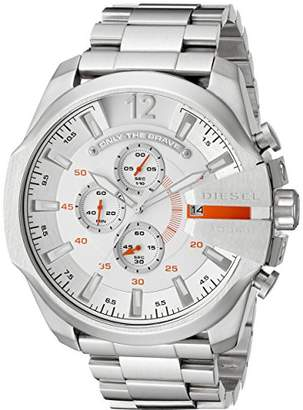 Diesel Men's DZ4328 Mega Chief -Tone Stainless Steel Watch