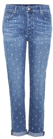 7 For All Mankind7 For All Mankind Josefina printed boyfriend jeans
