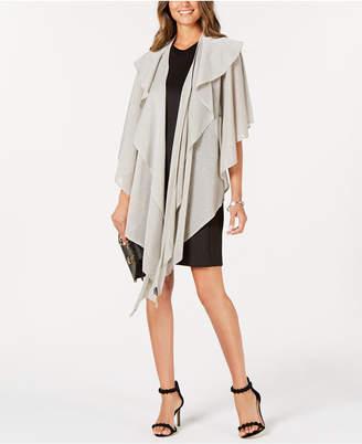 Cejon Double-Draped Sparkle-Knit Wrap