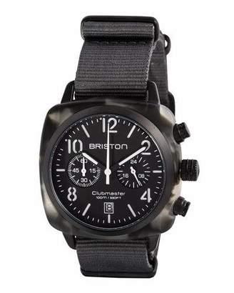 Briston Clubmaster Classic Chronograph Watch, Gray/Black