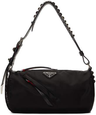 bb6a2e497 Prada Black New Vela Barrel Bag