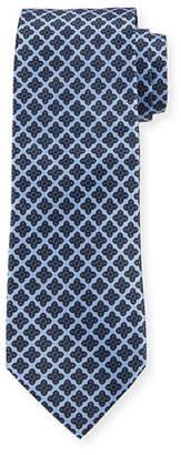 Stefano Ricci Floral Medallion Pattern Silk Tie
