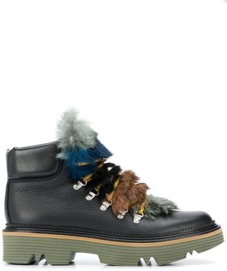 Pollini fur tongue mountain boots